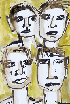 Four of us No 1 / Some of us 2016  | 21x14 | Rolant de Beer