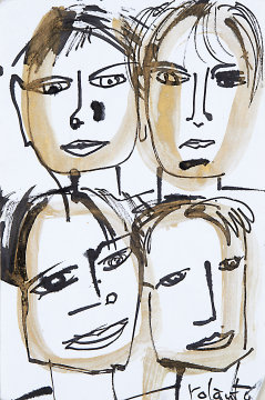 Four of us No 5 / Some of us 2016  | 21x14 | Rolant de Beer