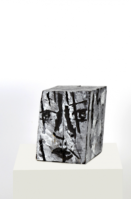 Blockhead 2 | painted woodcut | Rolant de Beer