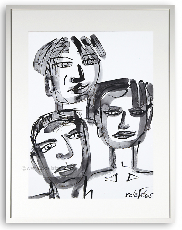 Three of us No 1/ Some of us 2015  | 40x30 | Rolant de Beer