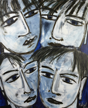 4 faces 2012 | 160x130cm | Rolant de Beer
